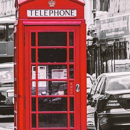 Deursticker Londen telefooncel 90 x 200 cm