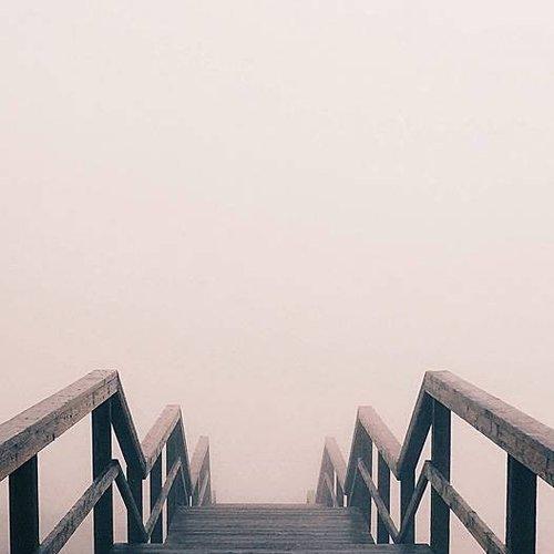 Deursticker houten brug 90 x 200 cm