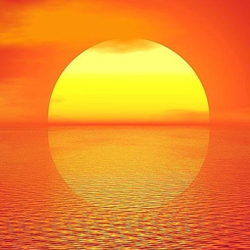 Deursticker zonsondergang zee 90 x 200 cm