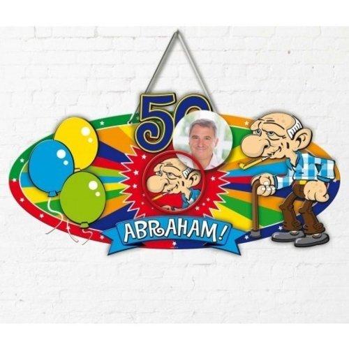 Deurbord 3D Abraham 48 x 35 cm