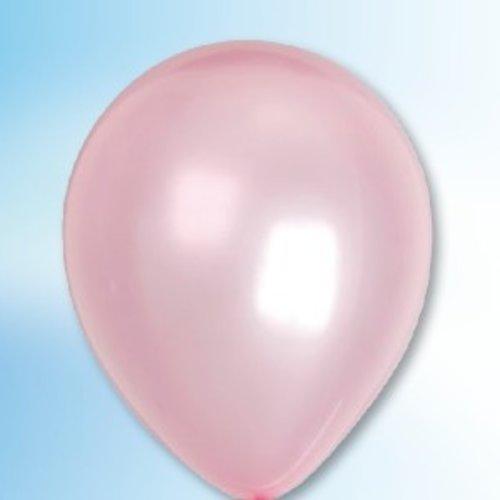 Ballon parelmoer roze ø 35 cm 25 stuks