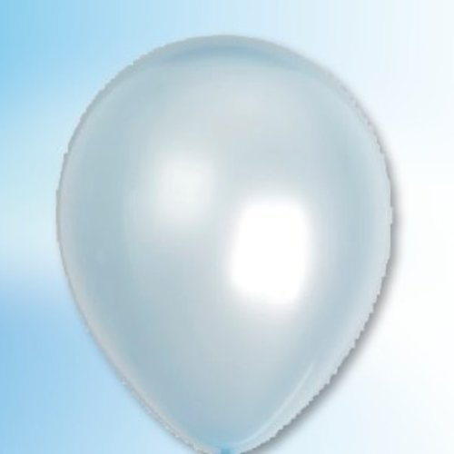 Ballon parelmoer blauw ø 35 cm 25 stuks