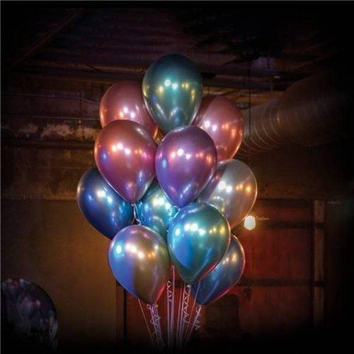 Chrome ballonnen blauw ø27,5 cm