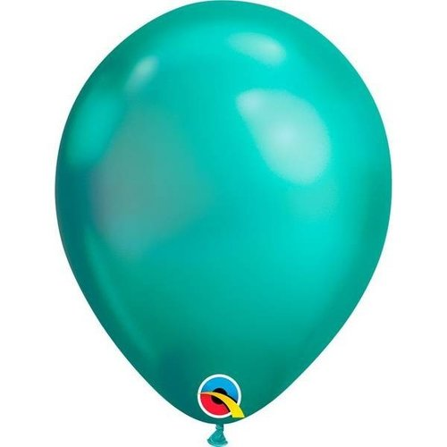 Chrome ballonnen groen ø27,5 cm