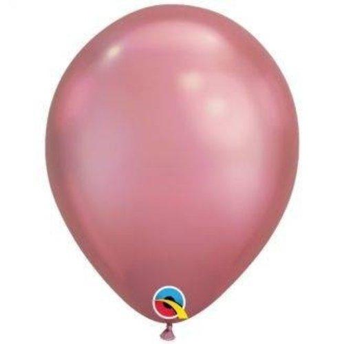 Chrome ballonnen roze ø27,5 cm