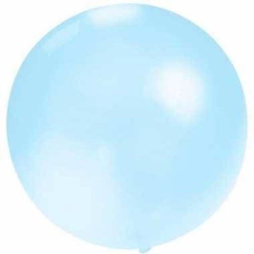 Globos Reuze ballon metallic lichtblauw 60 cm