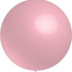 Reuze ballon metallic roze 60 cm