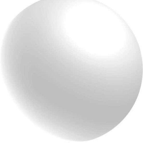 Globos Reuze ballon metallic wit 60 cm