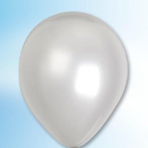 Globos Ballon metallic zilver ø 30 cm 100 stuks