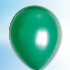 Ballon metallic groen ø 30 cm 100 stuks