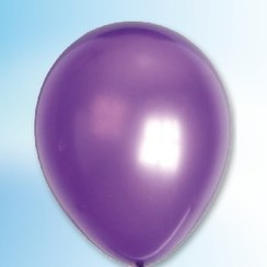 Ballon metallic paars ø 30 cm 100 stuks
