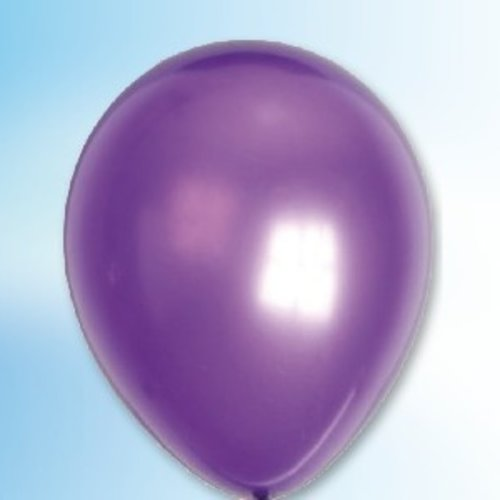 Globos Ballon metallic paars ø 30 cm 100 stuks