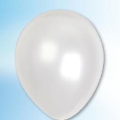 Ballon metallic wit ø 30 cm 100 stuks