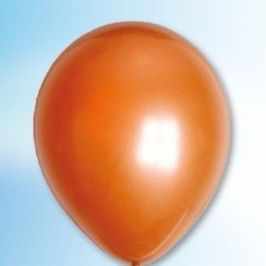 Ballon metallic koper ø 30 cm 100 stuks