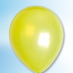 Ballon metallic limoengroen ø 30 cm 100 stuks