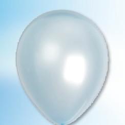 Ballon metallic lichtblauw ø 30 cm 100 stuks