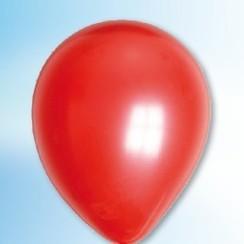 Ballon metallic rood ø 30 cm 100 stuks
