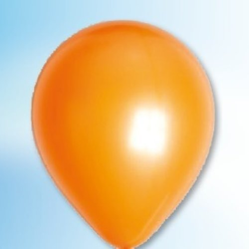 Globos Ballon metallic oranje ø 30 cm 100 stuks