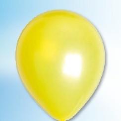 Ballon metallic geel ø 30 cm 100 stuks