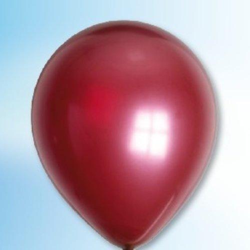 Globos Ballon metallic bordeaux ø 30 cm 100 stuks