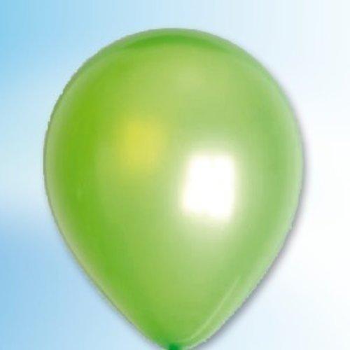 Globos Ballon metallic grasgroen ø 30 cm 100 stuks