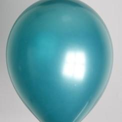 Ballon metallic turquoise ø 30 cm 100 stuks