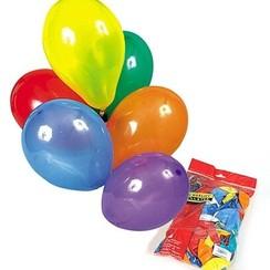 Ballon diverse kleuren ø 25 cm 100 stuks