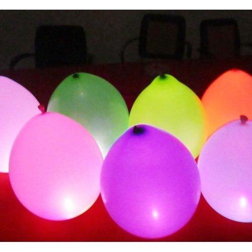 Neon ballonnen met LED-verlichting 5 stuks
