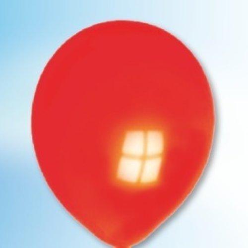 Ballon neon oranje-rood 25 cm 100 stuks