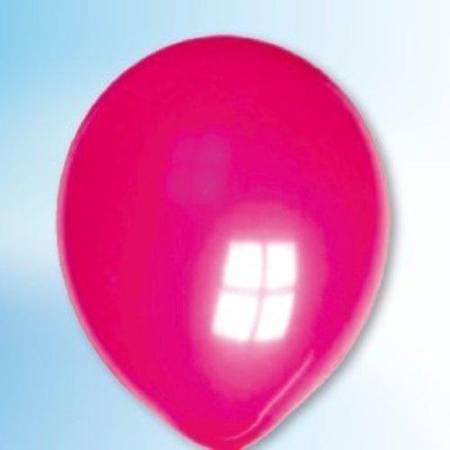 Ballon neon magenta-roze 25 cm 100 stuks