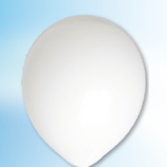 Ballon wit ø 12,5 cm 100 stuks