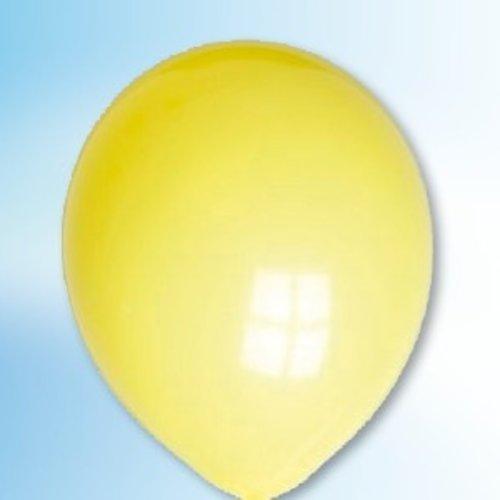 Globos Ballon geel ø 12,5 cm 100 stuks