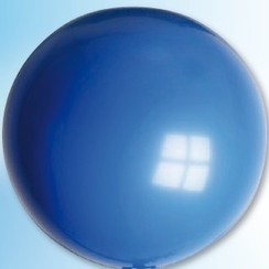 Mega ballon blauw ø 90 cm 6 stuks