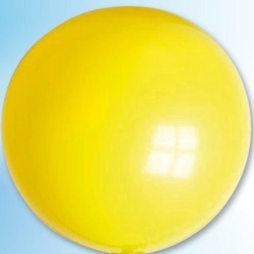 Mega ballon geel ø 90 cm 6 stuks