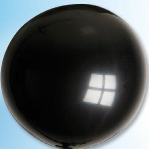 Mega ballon zwart ø 90 cm 6 stuks