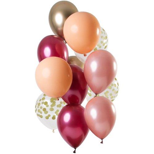 Set ballonnen ruby 12 stuks