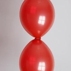 Doorknoopballon rood ø 30 cm 100 stuks