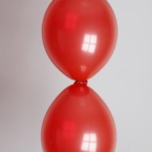 Globos Doorknoopballon rood ø 30 cm 100 stuks
