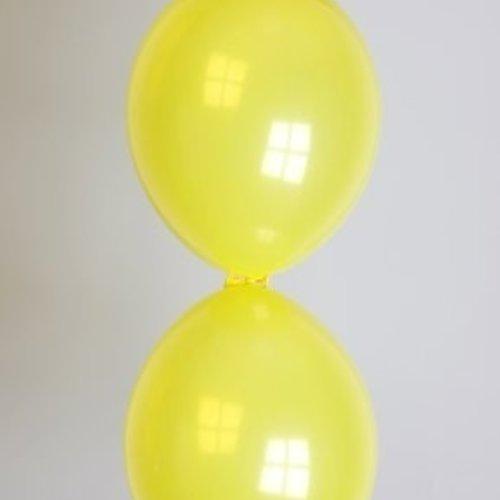 Globos Doorknoopballon geel ø 30 cm 100 stuks