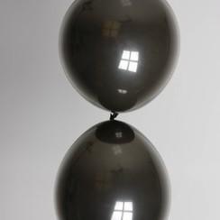 Doorknoopballon zwart ø 30 cm 100 stuks
