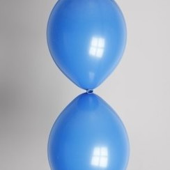 Doorknoopballon donkerblauw ø 30 cm 100 stuks