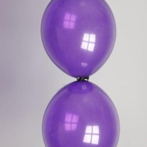 Globos Doorknoopballon paars ø 30 cm 100 stuks