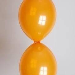 Doorknoopballon oranje ø 30 cm 100 stuks