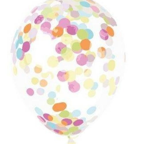 Ballon confetti ø 30 cm 6 stuks