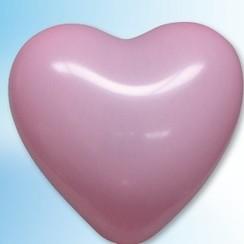 Hartjes ballon roze ø 35 cm 100 stuks