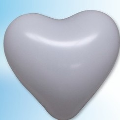 Hartjes ballon wit ø 35 cm 100 stuks
