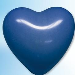 Hartjes ballon blauw ø 25 cm 100 stuks