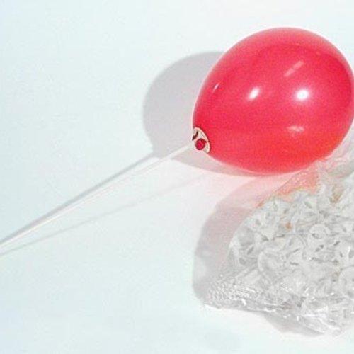Ballonstokje plastic 100 stuks
