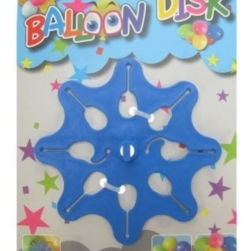 Ballon disk voor 10 ballonnen in tros