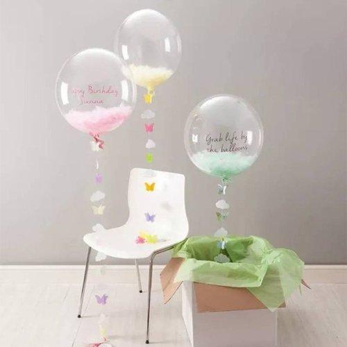 Bubbles ballon transparant 60 cm
